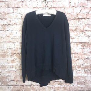 Wilt Asymmetrical Cut Black Slate Sweatshirt Sz L